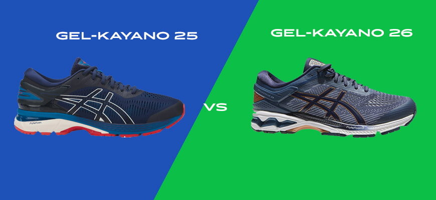 Asics Gel-Kayano 25 vs Gel-Kayano 26