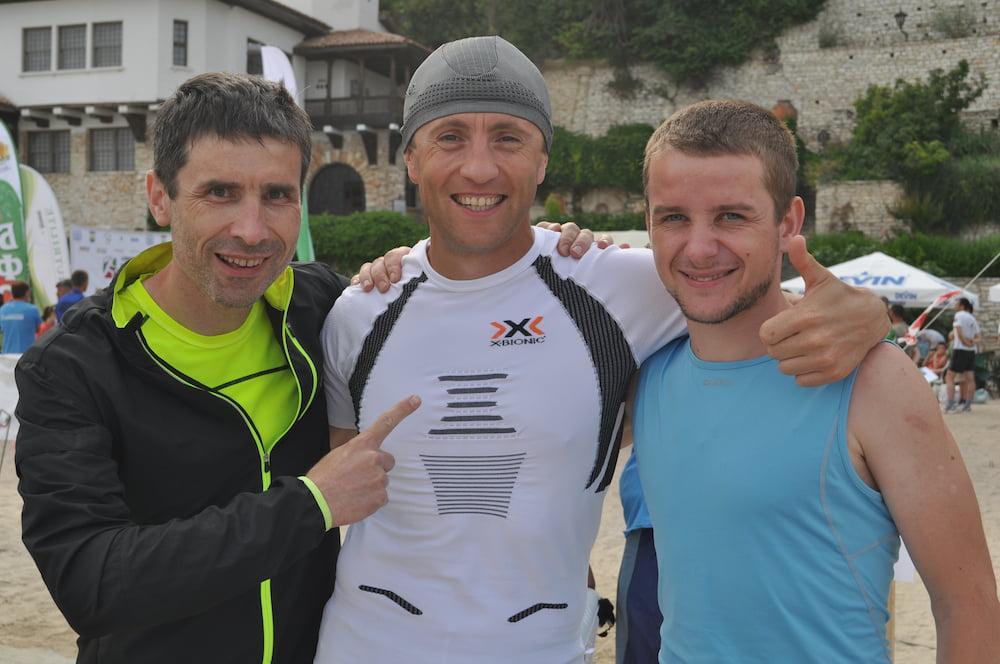 С Евгением Борщём и Игорем Постикой на соревнованиях в Болгарии